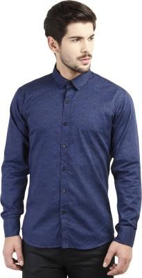 Marcello And Ferri Men's Floral Print Party Dark Blue Shirt