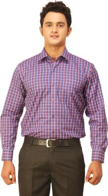 Seven Days Men's Checkered Formal Blue, Red Shirt