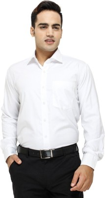 Modish Vogue Men's Solid Wedding, Casual, Party, Formal, Beach Wear, Festive, Lounge Wear White Shirt