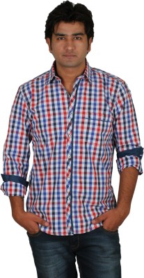I-Voc Men,s Checkered Casual Red, White Shirt