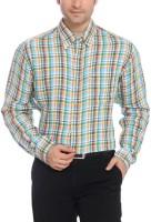Colorplus Formal Shirts (Men's) - ColorPlus Men's Solid Formal Linen Blue Shirt