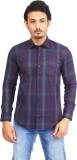 Success Men's Striped Casual Blue Shirt