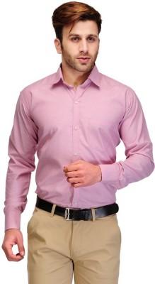Vkg Men's Solid Formal Pink Shirt