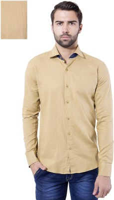 Tag & Trend Men's Solid Casual Brown Shirt