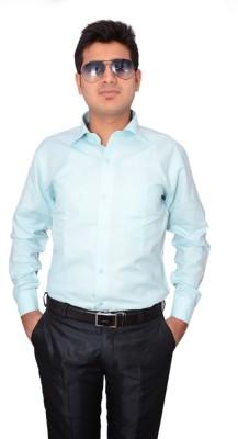 Indocity Men's Solid Formal Blue, Red Shirt