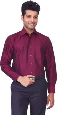 Mark Anderson Men's Printed Casual Maroon Shirt