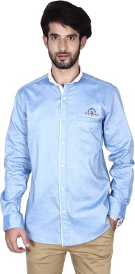 Brecken Paul Men's Solid Casual Light Blue Shirt