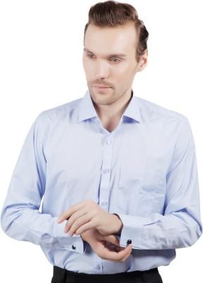 Jorzzer Roniya Men's Solid Casual Light Blue Shirt