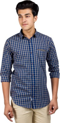 El Figo Men's Checkered Casual Multicolor Shirt