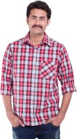 Sml Originals Formal Shirts (Men's) - SML Originals Men's Checkered Formal Red Shirt