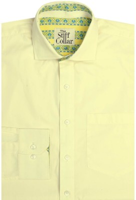 The Stiff Collar Men's Solid Casual Yellow Shirt