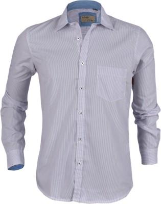 Aady Jones Men,s Striped Formal Purple Shirt