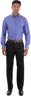 Indian Terrain Men's Solid Casual Dark Blue Shirt