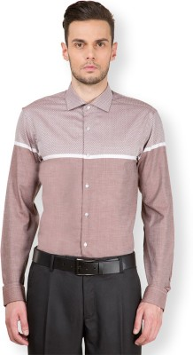 Black Coffee Men's Solid Casual Brown Shirt