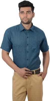 Studio Nexx Men's Woven, Checkered Formal Blue, Dark Blue Shirt