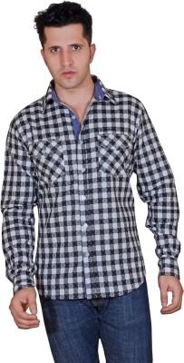 Denimize Men's Printed Casual Black Shirt