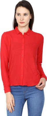 Arrow Womens Solid Casual Red Shirt