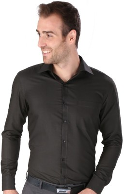 Magson Ace Men's Solid Formal Grey Shirt