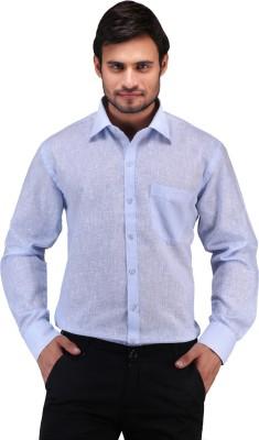 X-Cross Men's Solid Casual Blue Shirt