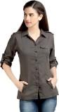 Loco En Cabeza Women's Solid Casual Grey...