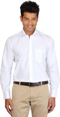 Jansons Men's Solid Formal White Shirt