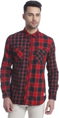 Jack & Jones Men's Checkered Casual Red Shirt