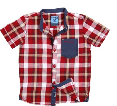 Ice Boys Boy's Checkered Casual Red, Blue Shirt
