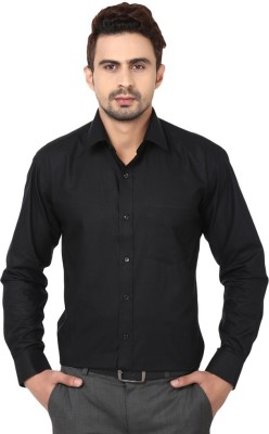TRENDIEZ Men's Solid Casual, Formal Black Shirt