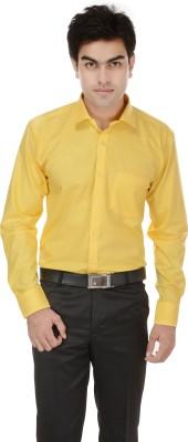Kalrav Men's Solid Casual, Formal, Party, Wedding Yellow Shirt