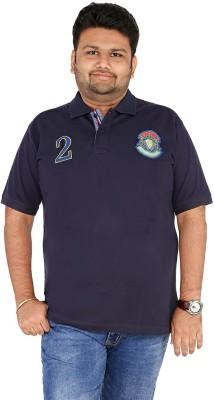 CIROCO Solid Men,s Polo Neck Dark Blue T-Shirt