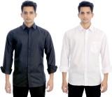 Elegant Men's Solid Casual Black, White ...
