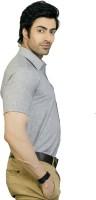 Edenelliot Formal Shirts (Men's) - EdenElliot Men's Striped Formal Linen Grey Shirt
