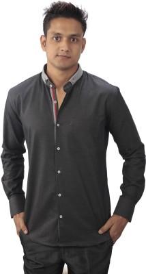 Tabard Men's Solid Casual Black Shirt