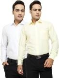 Regal Fit Men's Solid Formal Multicolor ...