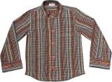 Babeez Boys Checkered Casual Brown Shirt