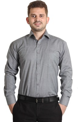 The Standard Men's Solid Casual Grey Shirt