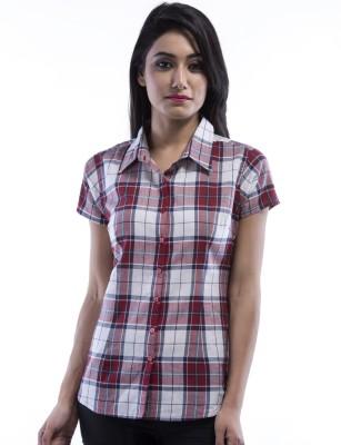 Peppermint Blues Women's Checkered Formal Shirt