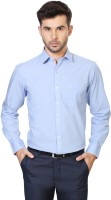 People Formal Shirts (Men's) - People Men's Solid Formal Blue Shirt
