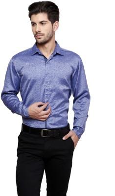 Thousand Shades Men's Floral Print Party Blue Shirt