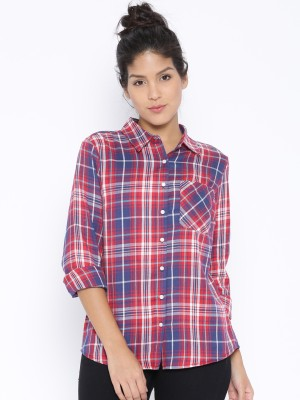 Silly People Women's Checkered Casual Multicolor Shirt
