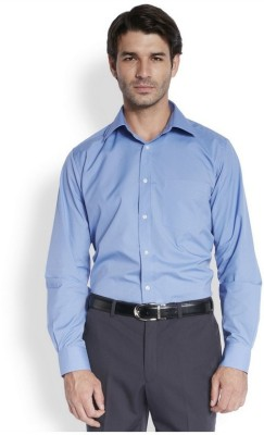 Park Avenue Men,s Solid Casual Blue Shirt