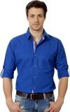 Suspense Men's Solid Casual Blue Shirt