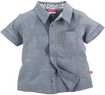 Fisher-Price Boy's Solid Casual Blue Shirt