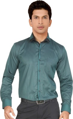 Red Country Men's Striped Casual Green Shirt