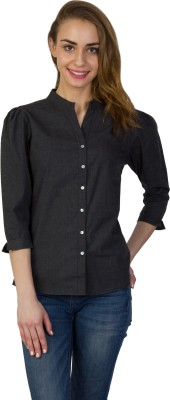Today Fashion Women's Solid Casual Grey Shirt