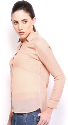 HRX by Hrithik Roshan Women,s Solid Casual Brown Shirt