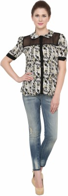 Zotw Women's Printed Casual Multicolor Shirt