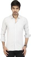 Acropolis By Shoppers Stop Formal Shirts (Men's) - ACROPOLIS by Shoppers Stop Men's Striped Formal White Shirt