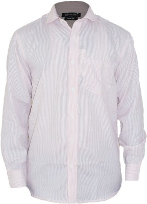 Groviano Men's Striped Formal Pink Shirt