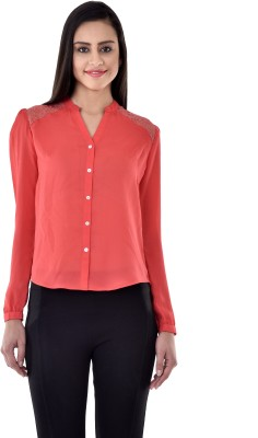 Colors Couture Women's Solid Casual Red Shirt